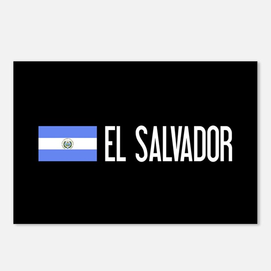 El Salvadoran Flag & El S Postcards (Package of 8)