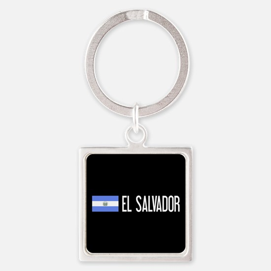 El Salvadoran Flag & El Salvador Square Keychain