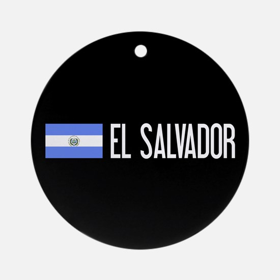 El Salvadoran Flag & El Salvador Round Ornament