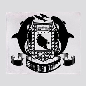 San Juan Island crest Throw Blanket