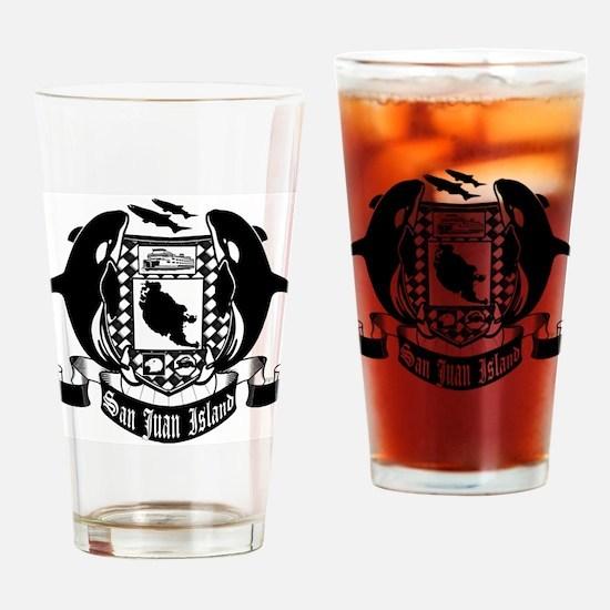 San Juan Island crest Drinking Glass