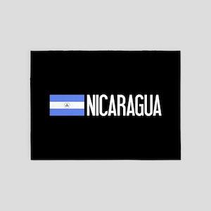 Nicaraguan Flag & Nicaragua 5'x7'Area Rug
