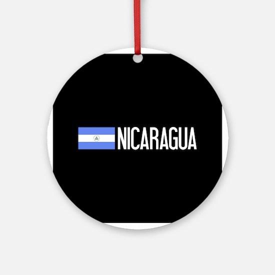 Nicaraguan Flag & Nicaragua Round Ornament