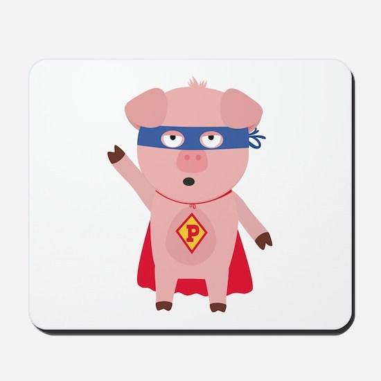 Superhero Pig Mousepad