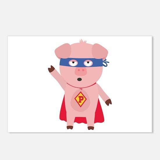 Superhero Pig Postcards (Package of 8)
