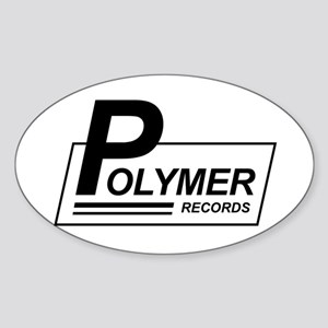 Polymer Records Oval Sticker