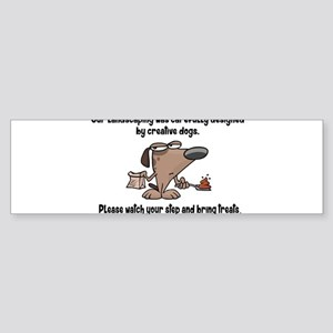 Dog Poop Yard Sign Bumper Sticker
