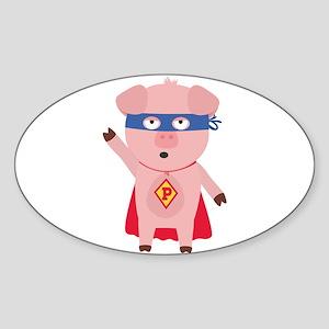 Superhero Pig Sticker