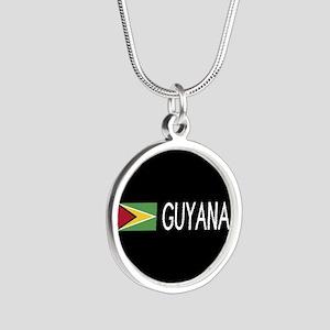 Guyanese Flag & Guyana Silver Round Necklace
