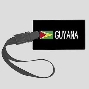 Guyanese Flag & Guyana Large Luggage Tag