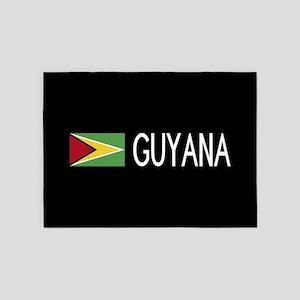 Guyanese Flag & Guyana 5'x7'Area Rug