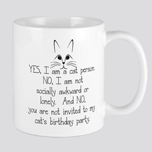 YES, I AM A CAT PERSON... Mugs