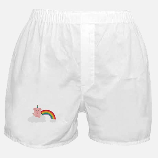 Unicorn Pig on cloud Boxer Shorts