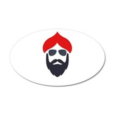 Funky Singhs Red Sunglasses Wall Decal