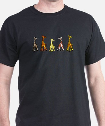 Baby Giraffes In A Row T-Shirt