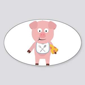 Pig eating Pizza Sticker