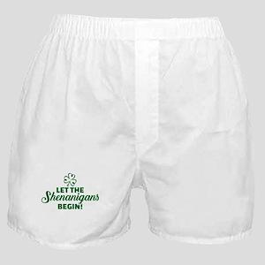 Let the shenanigans begin Boxer Shorts