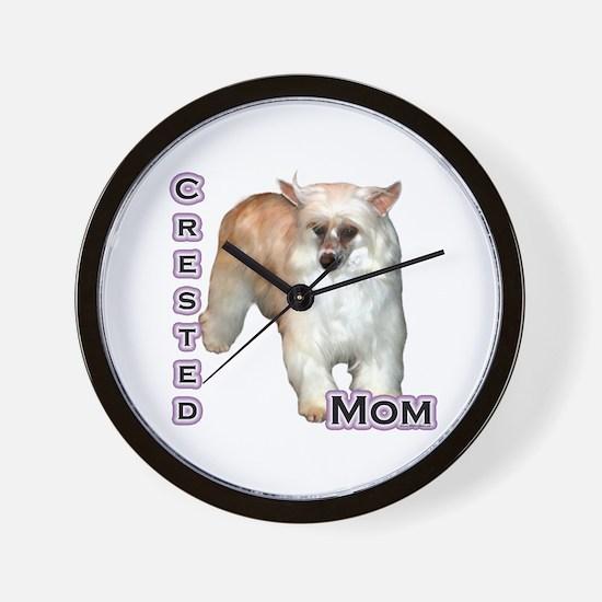 Crested(powder) Mom4 Wall Clock