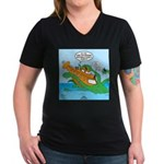 Nemo Scout Women's V-Neck Dark T-Shirt