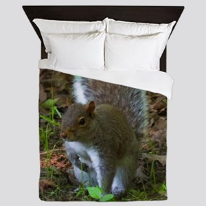 Gray Squirrel Queen Duvet