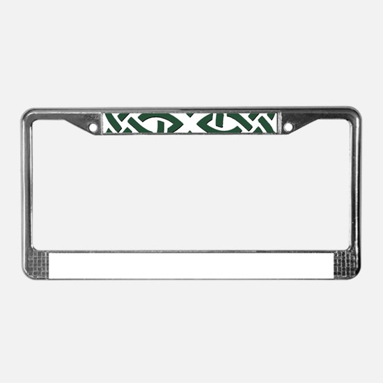 Green Trinity Knot License Plate Frame