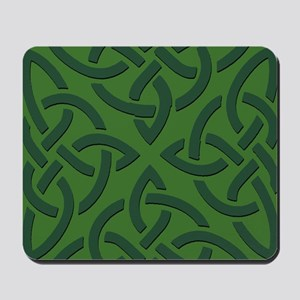 Green on Green Trinity Knot Mousepad
