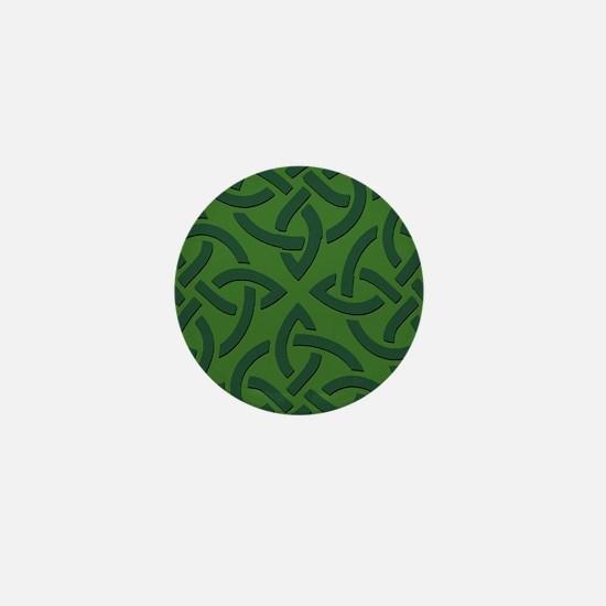 Green on Green Trinity Knot Mini Button