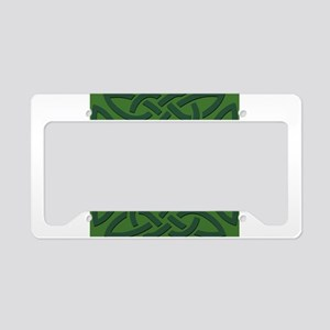 Green on Green Trinity Knot License Plate Holder