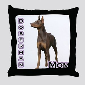 Dobie(rust) Mom4 Throw Pillow