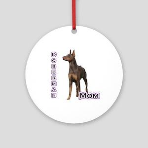 Dobie(rust) Mom4 Ornament (Round)