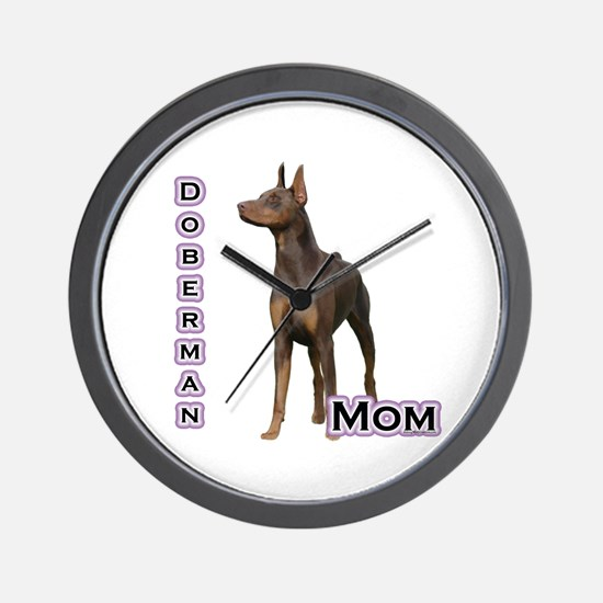 Dobie(rust) Mom4 Wall Clock