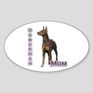 Dobie(rust) Mom4 Oval Sticker
