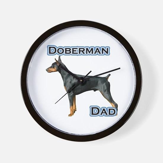 Dobie(blk) Dad4 Wall Clock
