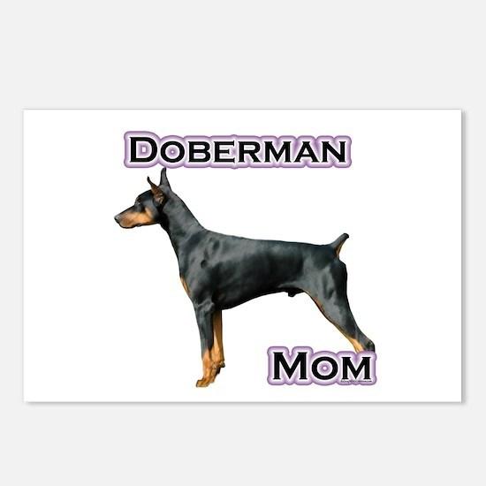 Dobie(blk) Mom4 Postcards (Package of 8)