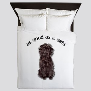 Good Affenpinscher Queen Duvet