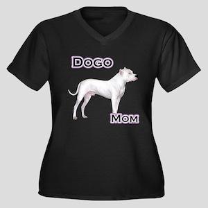Dogo Mom4 Women's Plus Size V-Neck Dark T-Shirt