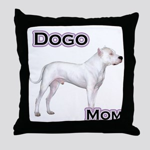 Dogo Mom4 Throw Pillow