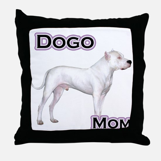 Dogo Mom4 Throw Pillow