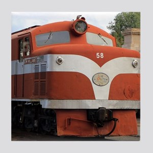 Old Ghan Locomotive, Alice Springs, A Tile Coaster