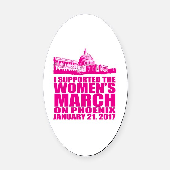 Womens holiday Oval Car Magnet