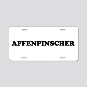 Affenpinscher Aluminum License Plate