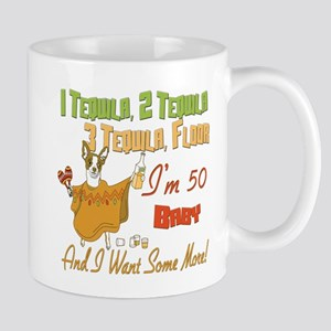 50th Birthday Tequila Party Mugs
