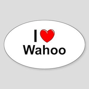 Wahoo Sticker (Oval)