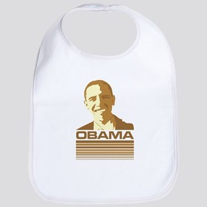 Barack Obama (Retro Brown) Bib