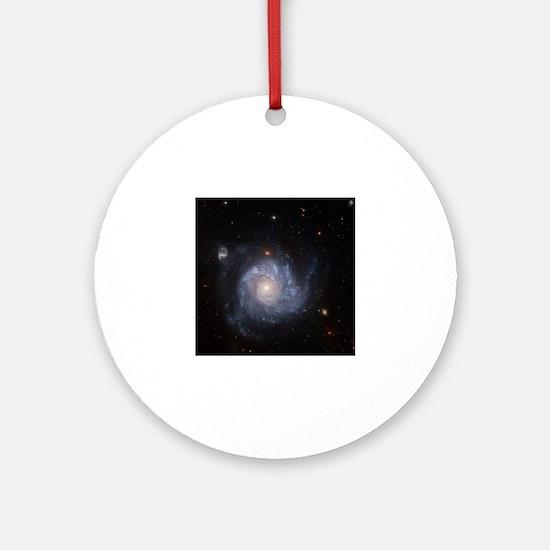 Funny Spiral galaxy Round Ornament