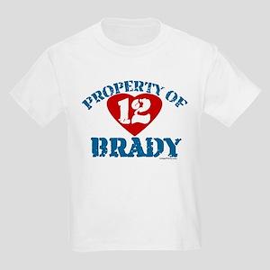 PROPERTY OF (12 heart) BRADY Kids Light T-Shirt