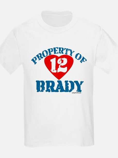 PROPERTY OF (12 heart) BRADY T-Shirt