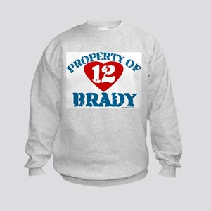 PROPERTY OF (12 heart) BRADY Kids Sweatshirt