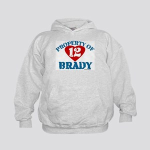 PROPERTY OF (12 heart) BRADY Kids Hoodie