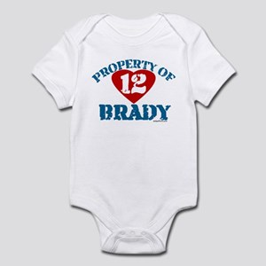 PROPERTY OF (12 heart) BRADY Infant Bodysuit